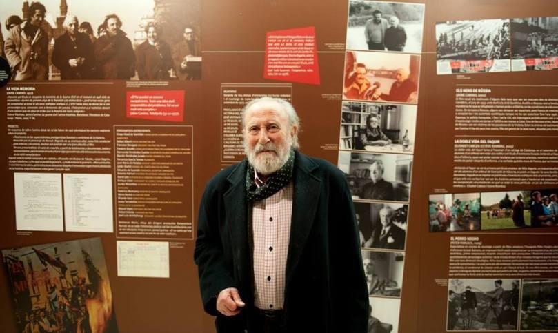 Jaime Camino a la Filmoteca, en la inauguració de l'exposició 'Imatges confrontades: Guerra civil i cinema'